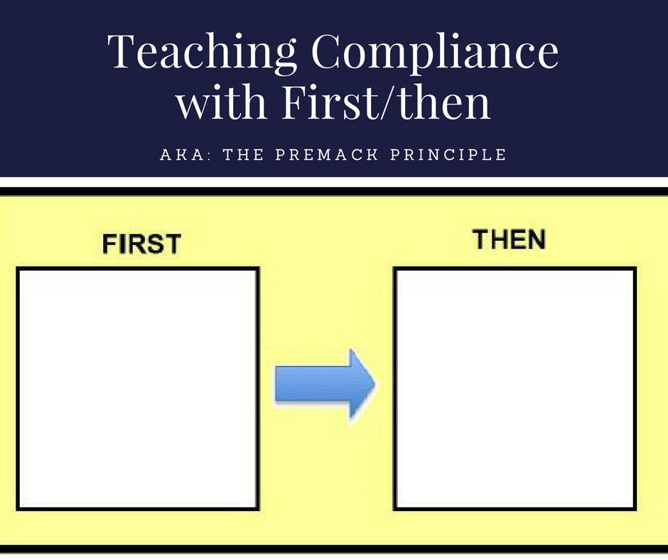 Teaching Compliance With Firstthen Premack Principle How To Aba